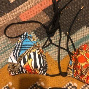 Swim - BRAND NEW High cut belted triangle bikini size S